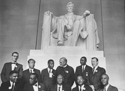 March on Washington Leaders at Lincoln Memorial