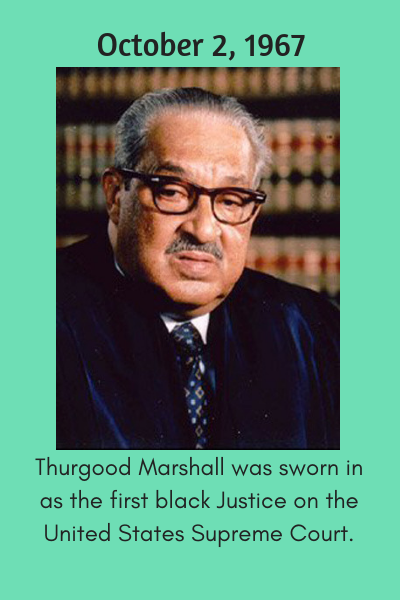 First Black Justice on US Supreme Court